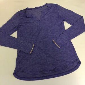 Lululemon purple 1/4 zip base layer size 10